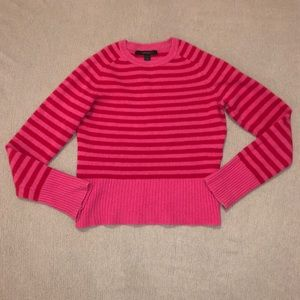 Express Red & Pink Striped Wool Sweater